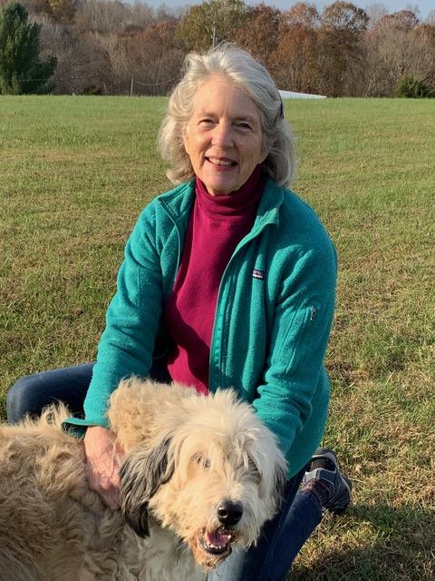 Georgeann Harmon with her dog