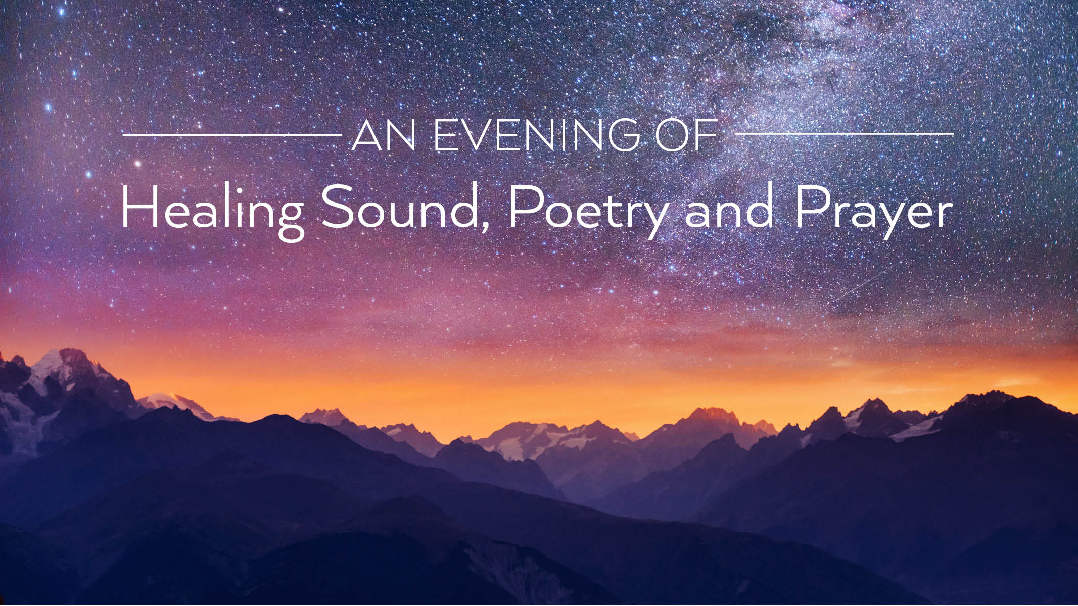 An Evening of Healing Sound