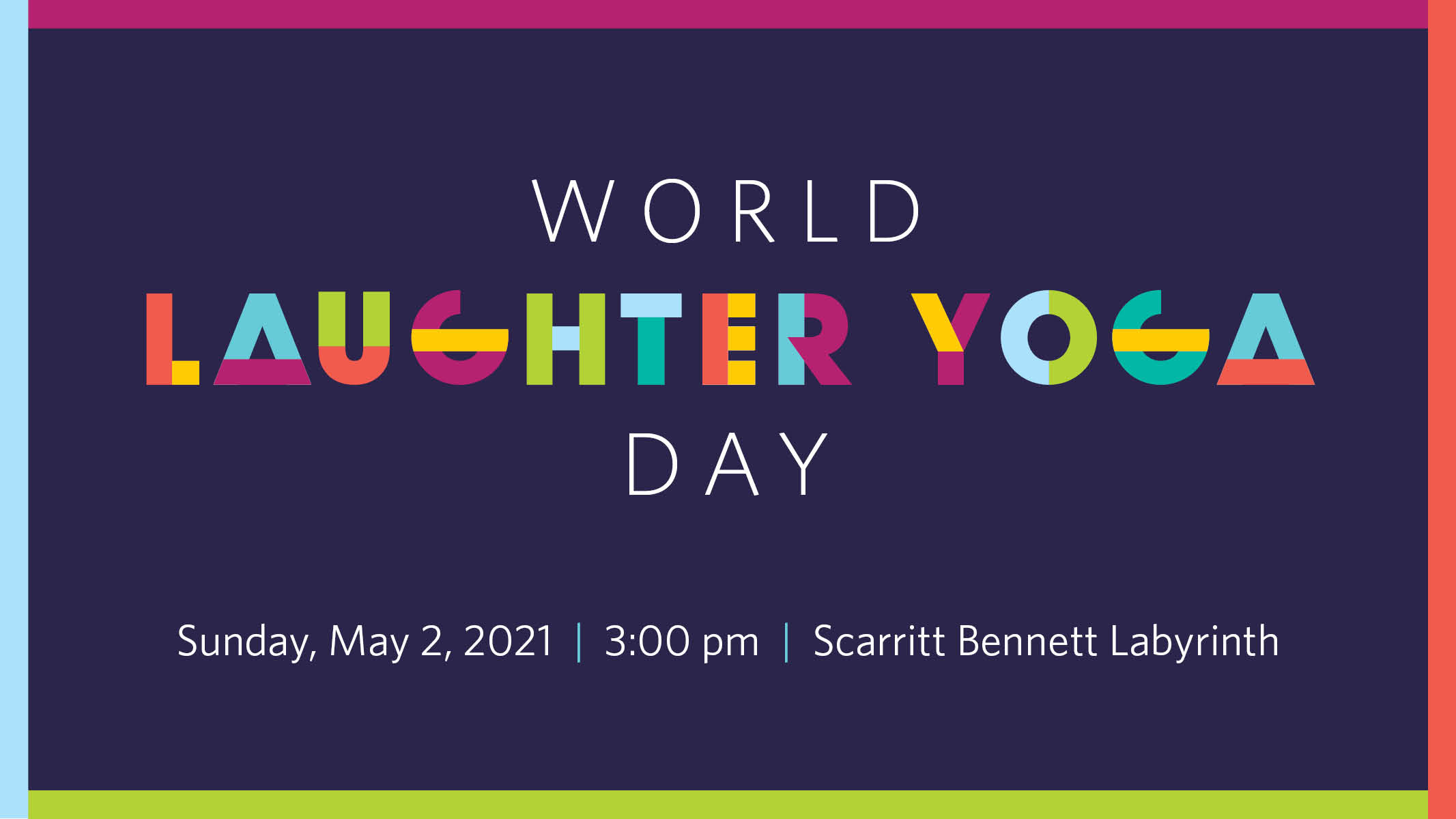 World Laughter Yoga Day: 3pm, Sunday, May 2, at the Scarritt Bennett Center Labyrinth