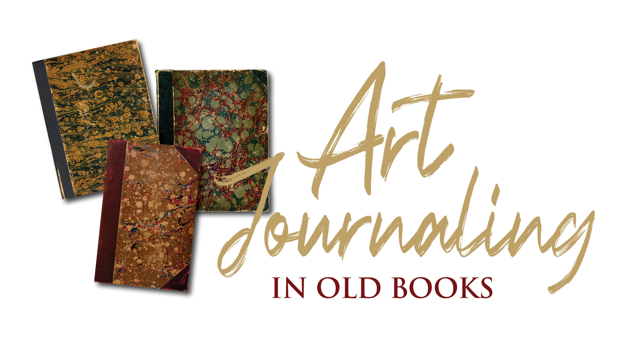 Art Journaling in Old Books