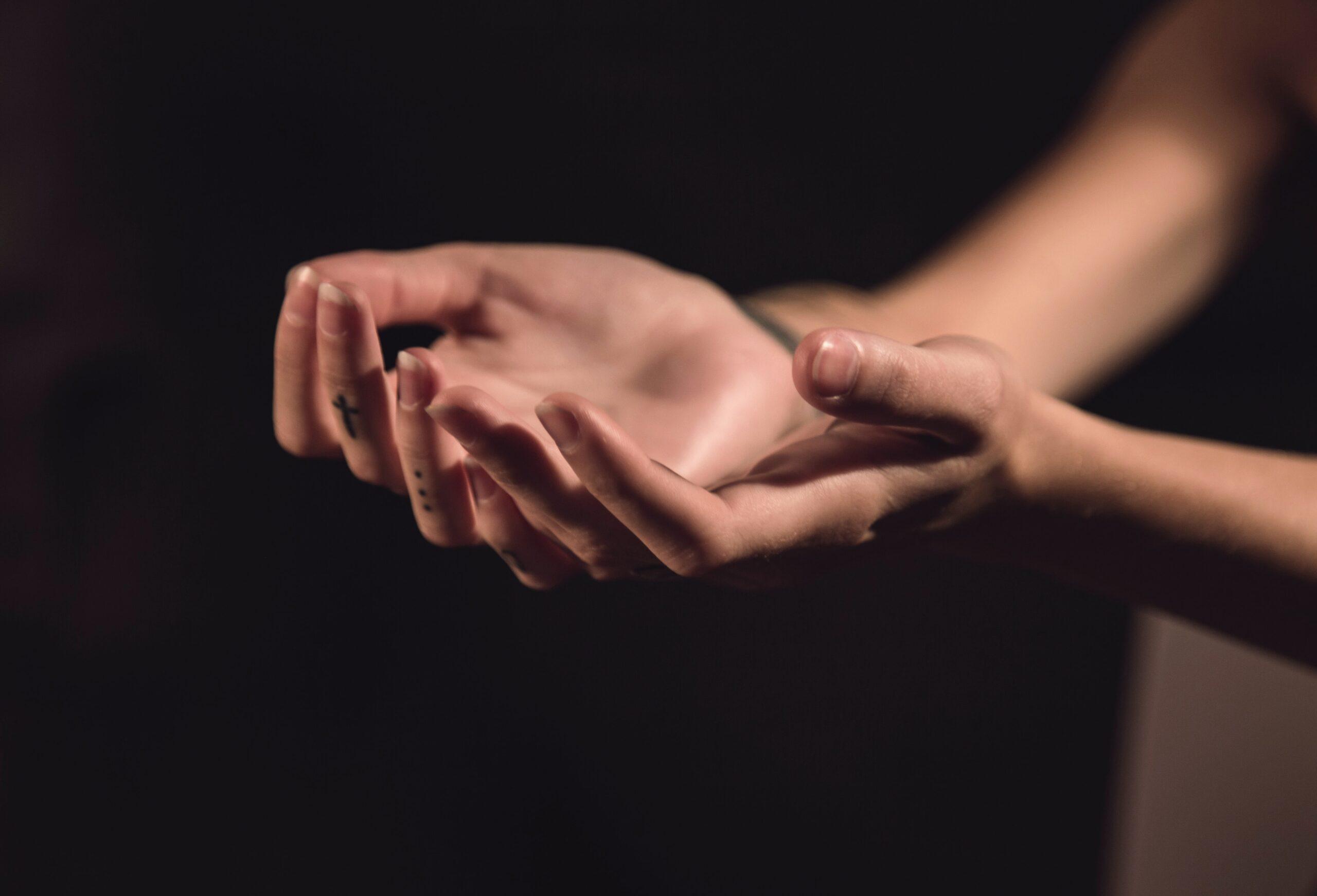 Woman's hands, palms up